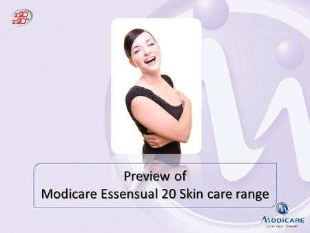 Modicare Essensual 20 Skin care range