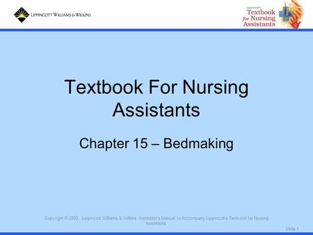 Textbook For Nursing Assistants