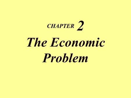 CHAPTER 2 The Economic Problem