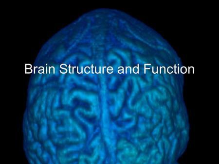"Brain Structure and Function. ""If the human brain were so simple that we could understand it, we would be so simple that we couldn't"" -Emerson Pugh, The."