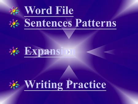 Word File Expansion Writing Practice Sentences Patterns.