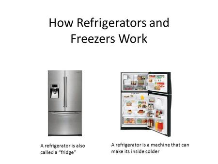 How Refrigerators and Freezers Work