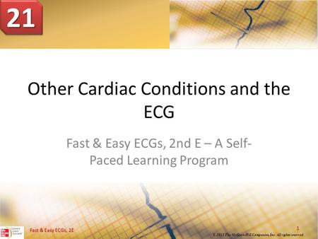 Other Cardiac Conditions and the ECG