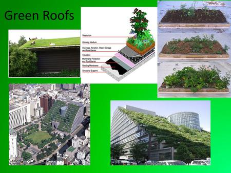 Green Roofs.