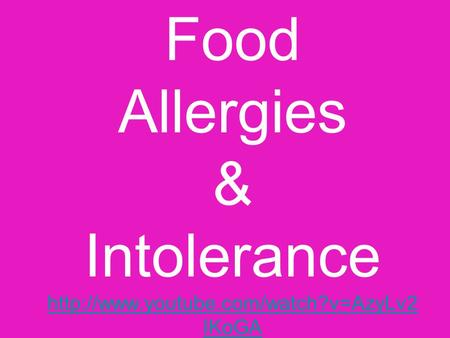 Food Allergies & Intolerance  IKoGA  IKoGA.