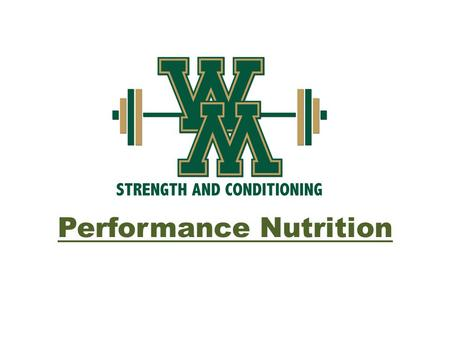 Performance Nutrition. Essential for Success As an athlete, every one of you should desire to be great. Nutrition plays a HUGE role in your success, from.