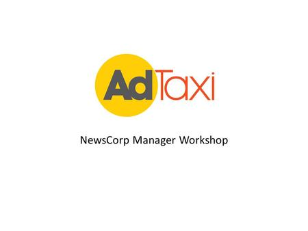 NewsCorp Manager Workshop