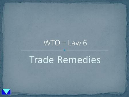 Trade Remedies. US Cartel Law Price Discrimination Predatory Pricing GATT Law Price Discrimination from abroad Reduction: only with material injury.