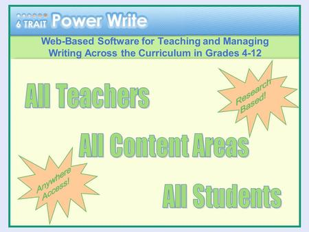 Web-Based Software for Teaching and Managing Writing Across the Curriculum in Grades 4-12.