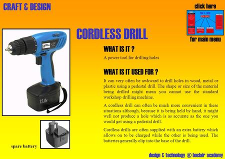 CORDLESS DRILL WHAT IS IT ? WHAT IS IT USED FOR ? click here