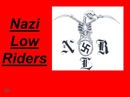 Nazi Low Riders Pic. Origins The NLR originated in the California when the leader of the Aryan Brotherhood began to recruit members in the California.