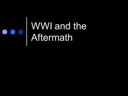 WWI and the Aftermath. Preparing for War -War Industries Board: gov't regulation of industry to produce war goods -Opportunities for Women /Minorities: