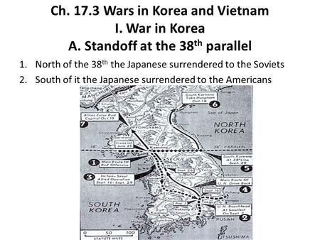 Ch Wars in Korea and Vietnam I. War in Korea A