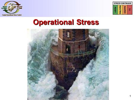 1 Operational Stress. Unique Challenges as Reservists Reserves vs. Active Duty Reserves vs. Active Duty Support (medical, admin) Support (medical, admin)