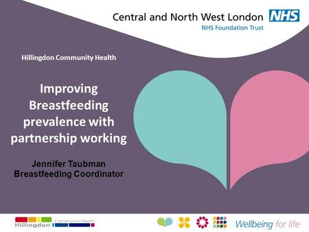 Hillingdon Community Health Improving Breastfeeding prevalence with partnership working Jennifer Taubman Breastfeeding Coordinator.