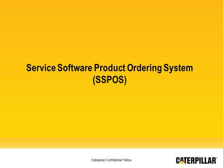 Service Software Product Ordering System (SSPOS)