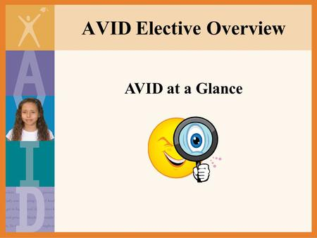 AVID Elective Overview