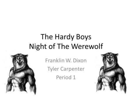 The Hardy Boys Night of The Werewolf