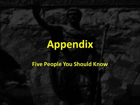 Appendix Five People You Should Know. III.Five people you should know from 1 Corinthians 2:6-3:4 A.The Natural Person 1.The natural person defined.