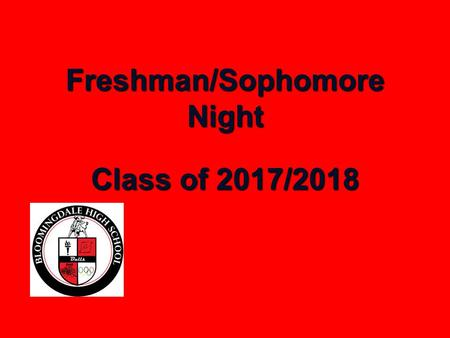 Freshman/Sophomore Night Class of 2017/2018. Tonight's Topics Graduation Requirements Guidmii Community Service Bright Futures Guidance Website Freshman.