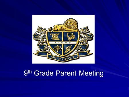 9 th Grade Parent Meeting. Registration Overview.