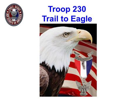 Troop 230 Trail to Eagle. Mrs. Salinas Eagle Advancement Chair Mr. Balden Scoutmaster Mr. Walker Committee Chair Troop 230 Trail to Eagle Presentation.