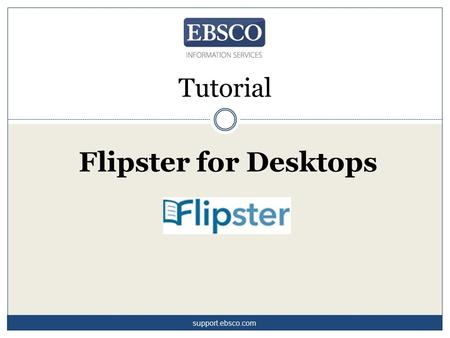 Tutorial Flipster for Desktops support.ebsco.com.