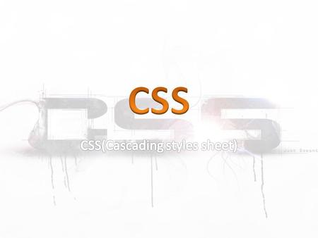 CSS normally control the html elements. Three Ways to Insert CSS There are three ways of inserting a style sheet: External style sheet Internal style.
