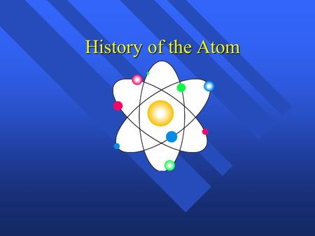 History of the Atom.