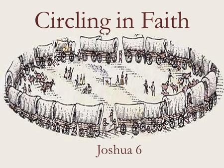Circling in Faith Joshua 6. Joshua 5:13-15 Now when Joshua was near Jericho, he looked up and saw a man standing in front of him with a drawn sword in.