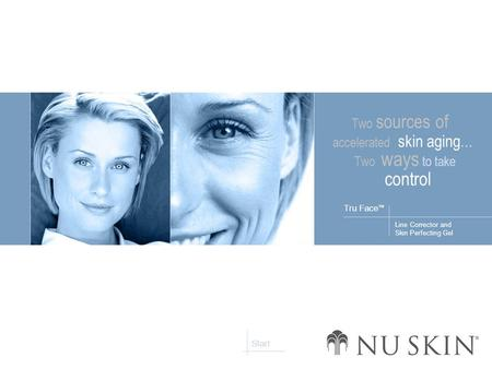 Line Corrector and Skin Perfecting Gel Tru Face ™ Start Two sources of accelerated skin aging... Two ways to take control.