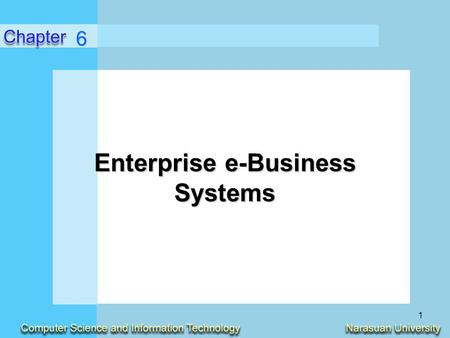 Enterprise e-Business Systems