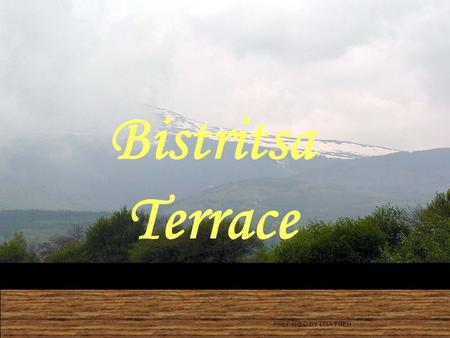 Bistritsa Terrace PREPARED BY LISA FREIJ. Location Bistritsa Terrace Minutes drive to: 1.Ring road, 5' 2.Business Park, 8' 3.American College, 8' 4.AAS,