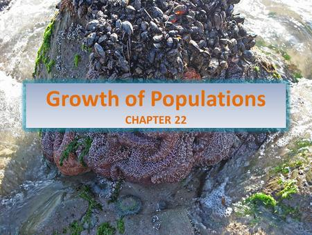 Growth of Populations CHAPTER 22. How Many Organisms Live in a Particular Environment, and Why? Population ecology is the study of the number of organisms.