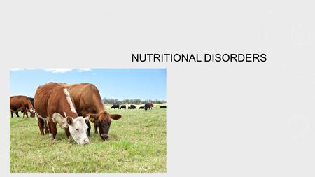 NUTRITIONAL DISORDERS. COMMON CORE STANDARDS ADDRESSED! CCSS.ELA-Literacy.RH.11-12.2 Determine the central ideas or information of a primary or secondary.