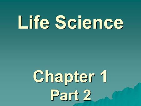 Life Science Chapter 1 Part 2. Chemical Compounds in Cells Cells are the basic building blocks of all living things…. Atoms & Molecules are the basic.