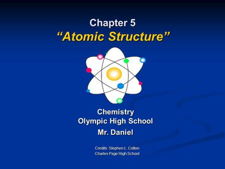 "Chapter 5 ""Atomic Structure"""