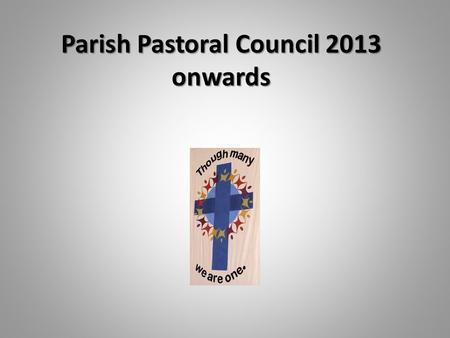 Parish Pastoral Council 2013 onwards. The primary purpose and responsibility of our Parish Pastoral Council is to guide and determine the direction of.