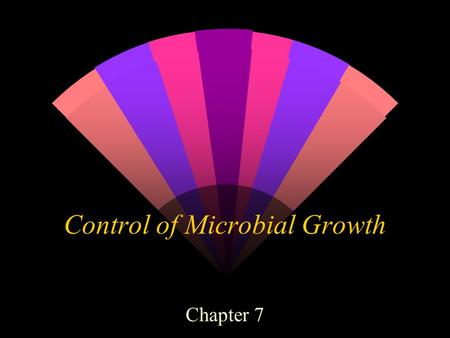 Control of Microbial Growth Chapter 7. History w Humans vs. Microbes infections diseases plagues epidemics pandemics.