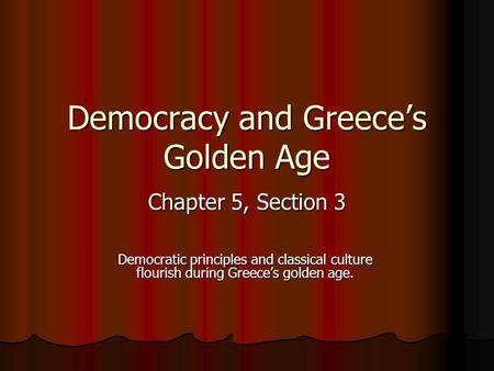 a comparison of the golden ages of greece rome and china The western world as we know it developed directly from the classical mediterranean the foundations of western society have deep roots in greece and rome.