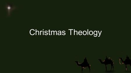 Christmas Theology. Santa (what we think we know)