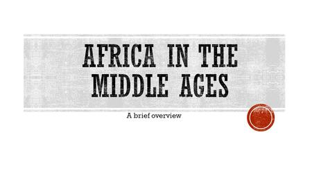 A brief overview.  A huge group of people lived in west Africa 3,000 years ago.  Because of the need for more land & pressure from war, they began to.