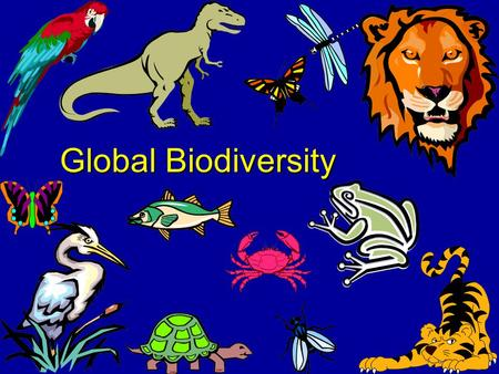 Global Biodiversity What is Biodiversity? We'll get to that, but first.... Let's take a step back in time.