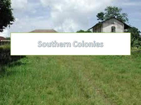 Five colonies that make up the south are: – Maryland – Virginia – North Carolina – South Carolina – Georgia Share a coastal area called the tidewater.