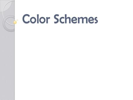 Color Schemes. Neutral Neutral color schemes can be easier to live with than with vibrant color schemes. True neutral colors are black, white and shades.