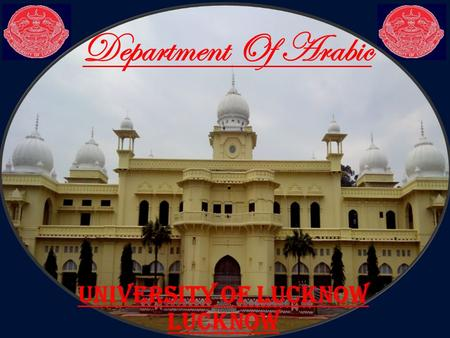 Department Of Arabic University of lucknow lucknow.