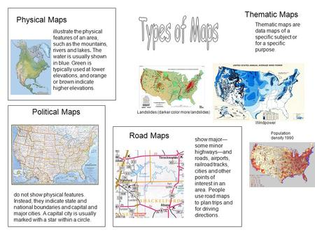 Political, Physical, Topographic and Thematic maps - ppt video ... on