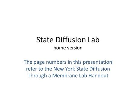 State Diffusion Lab home version