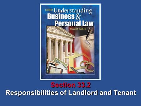 Responsibilities of Landlord and Tenant Section 33.2.