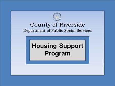 County of Riverside Department of Public Social Services
